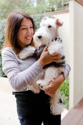 Mrs Dooley, the excited fox terrier, loves her walks around the Inner West streets and parks