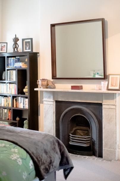 The guestroom also boasts a beautiful original fireplace making it feel regal and cosy