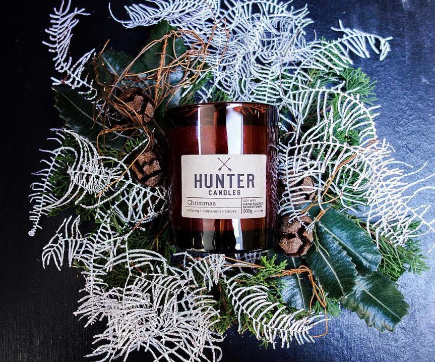 A hunter candle